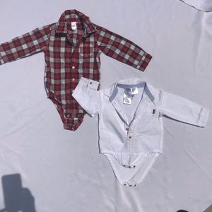 Carters + Off Corss Boys Button Down Size 18 mo